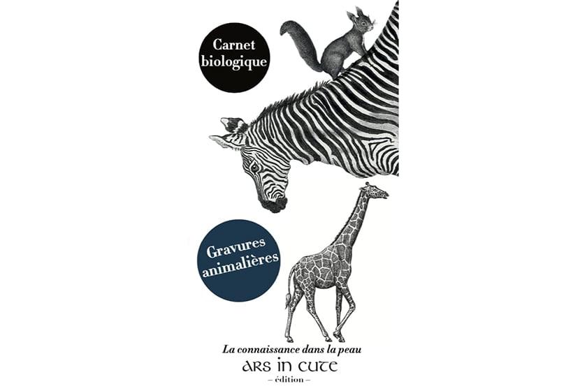 Couverture - Carnet - Gravures animalières